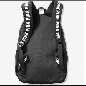 Pink black campus backpack